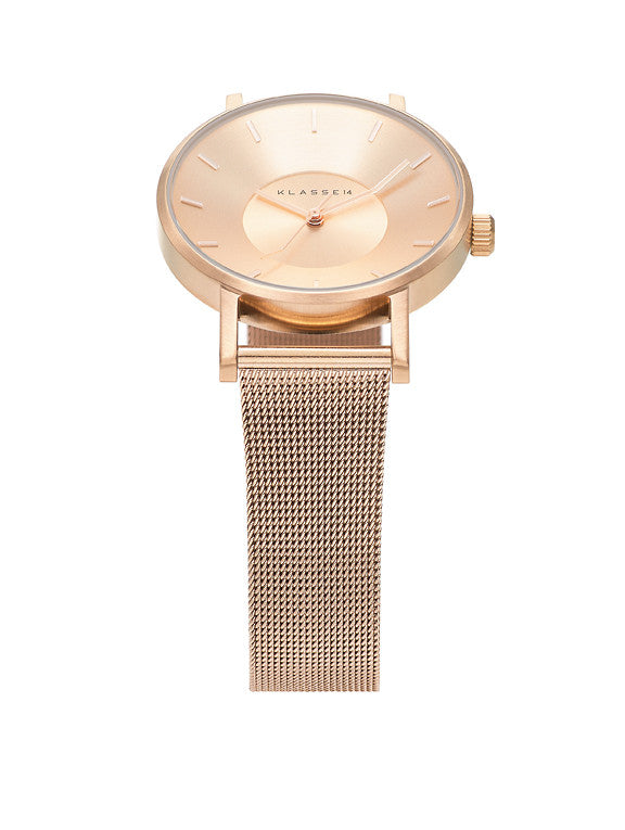 Volare Rosegold meshband 36mm