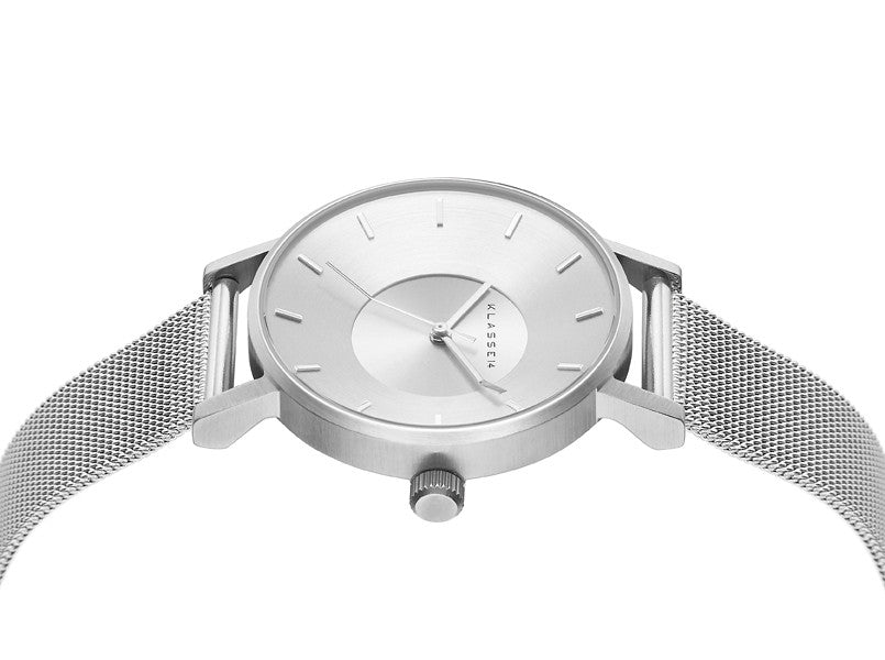 Volare Silver meshband 36mm