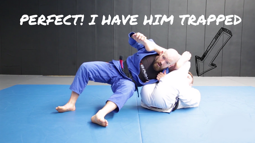 TRICK your opponent into getting their back, when CAUGHT in an omoplata