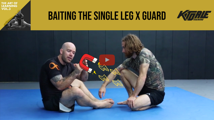Baiting the single leg X-guard (AOL Vol. 3)