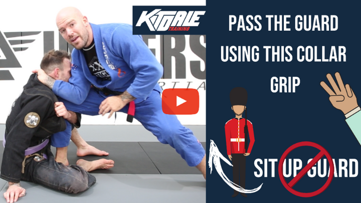 Hand in collar Guard Pass - Killing the sit-up guard