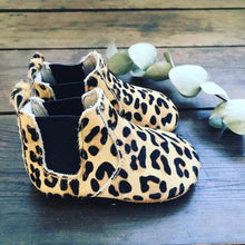 Load image into Gallery viewer, 'Wild One' Leopard print baby chelsea boots