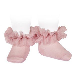 Condor Frill Tulle Ankle Socks