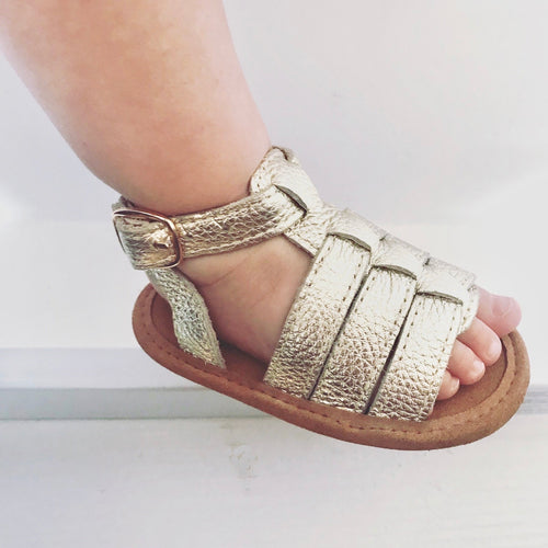 'Grecian' Babe Gladiator Sandals - Baby Soft Sole