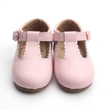 Load image into Gallery viewer, 'Dolly-Blush' pink leather t-bar hard sole toddler & children's shoes