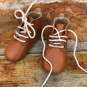 'Indie' Tan leather toddler & children's boots