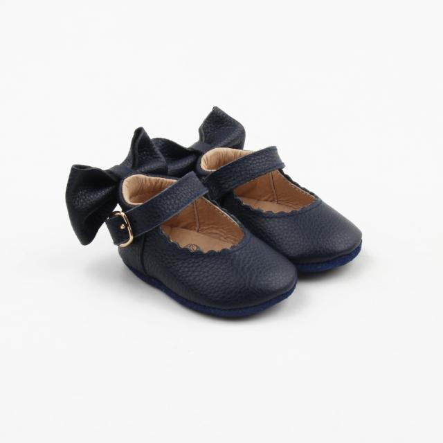 'In The Navy' Dolly Shoes - Soft Sole