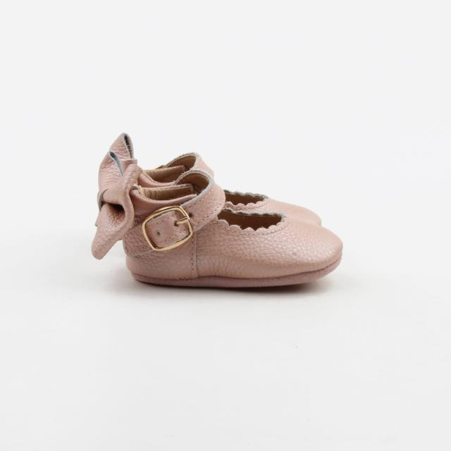 'Vintage Pink' Dolly Shoes - Baby Soft Sole