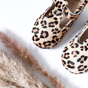 'Wild One' Leopard T-bar Shoes - Toddler Hard Sole