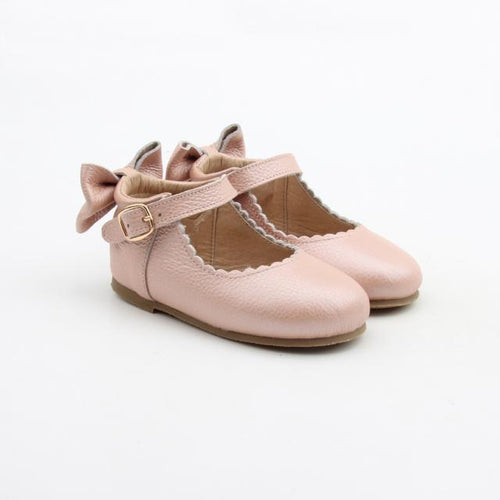 'Vintage Pink' Dolly Shoes - Toddler Hard Sole