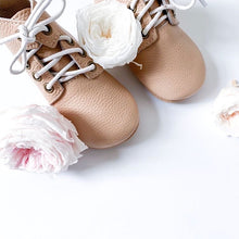 Load image into Gallery viewer, 'Nudie' Derby Baby Booties