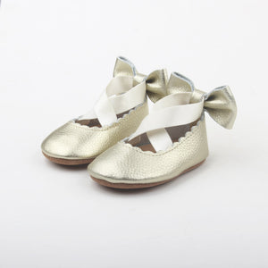'Gold Rush' Prima Ballerina - Soft sole baby shoes