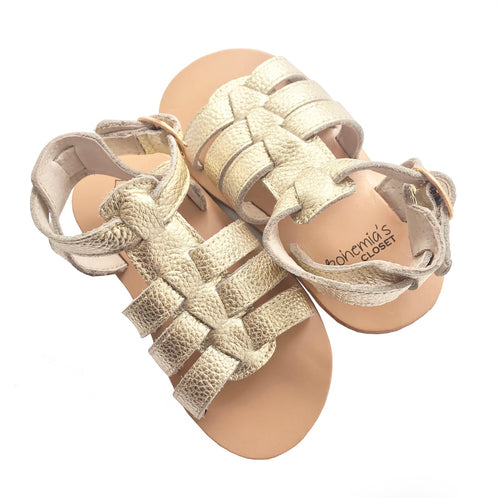 'Grecian' Babe Gladiator Sandals - Hard sole
