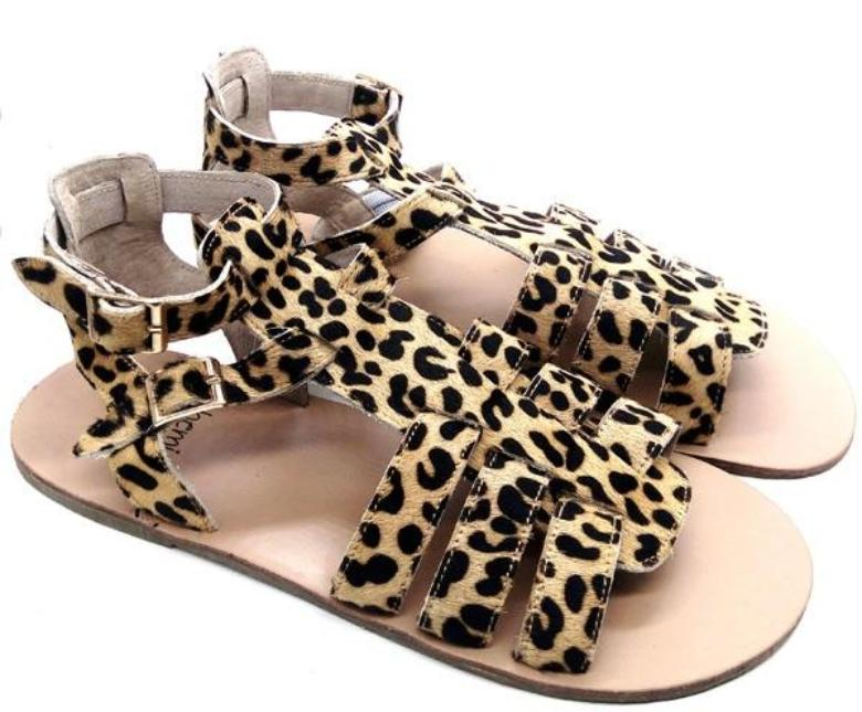 'Wild One' Leopard Print ladies gladiator sandals Mama & Babe twinning