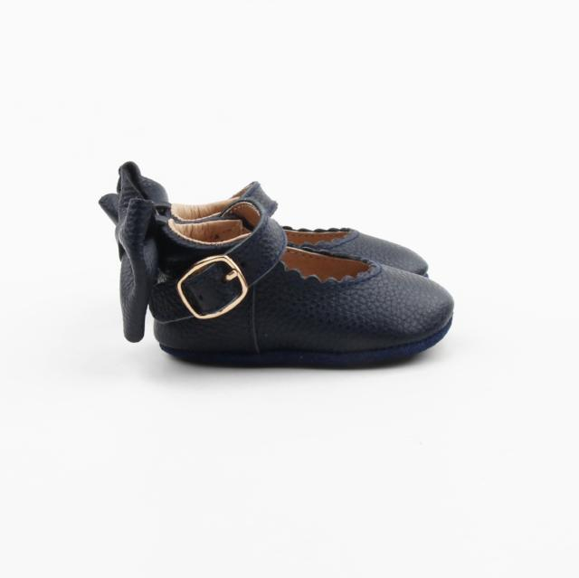 'In The Navy' Dolly Shoes - Baby Soft Sole