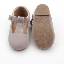 Load image into Gallery viewer, 'Bunny' grey suede t-bar hard sole toddler & children's shoes