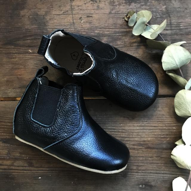 'Ebony' Chelsea Boots - Toddler Hard Sole