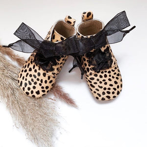 'Cheetah' Children's Derby Boots - Hard Sole