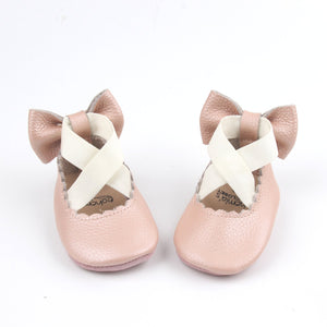 'Vintage Pink' Prima Ballerina - Soft Sole Baby Shoes