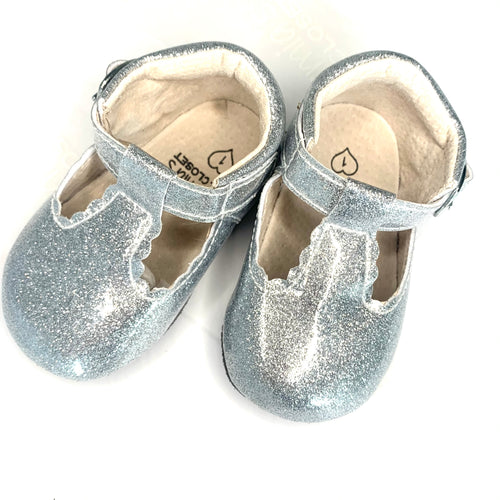 'Unicorn' Glitter T-bar Shoes - Baby Soft Sole