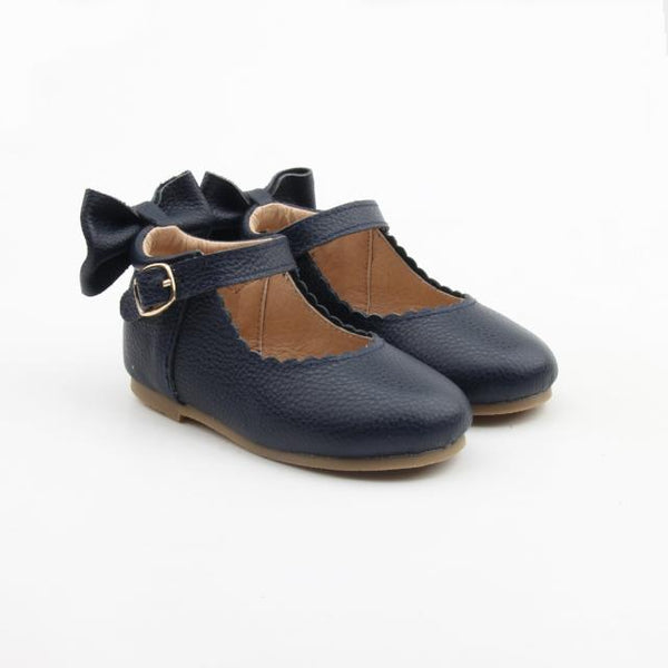 'In The Navy' Dolly Shoes - Hard Soles