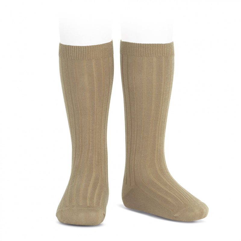 Condor Wide Ribbed Knee Socks