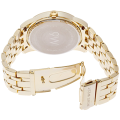 Nine West Women's NW 1578CHGB Champagne Dial Gold-Tone Bracelet Watch