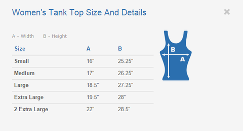 Women's Tank Top Size and Details