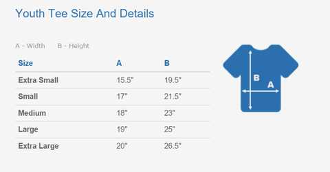 Youth Tee Size and Details