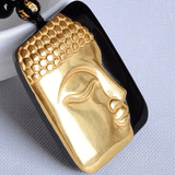 18K Gold Plated Buddha Head Necklace