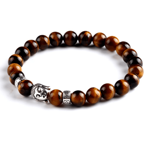 Buddha Beads Lucky Charm Bracelet Tiger's Eye