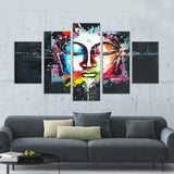 Abstract Colored Buddha Canvas