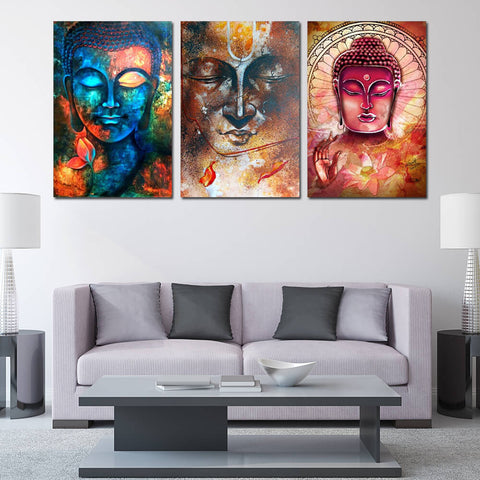 Colorful Buddha Art Canvas