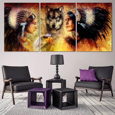 Native American Beauty Canvas