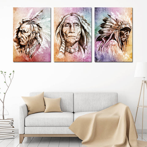 Native American Chiefs Canvas