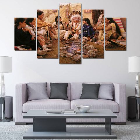 Native American Culture Canvas