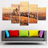 Native American Horses Canvas