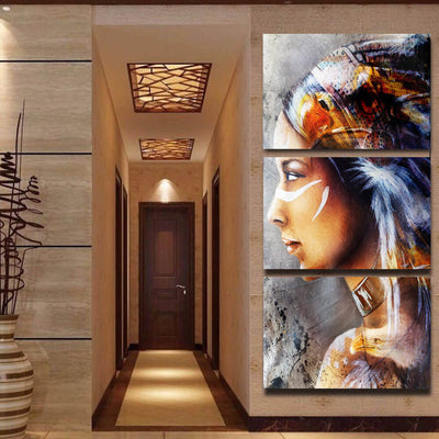 Native American Woman Canvas