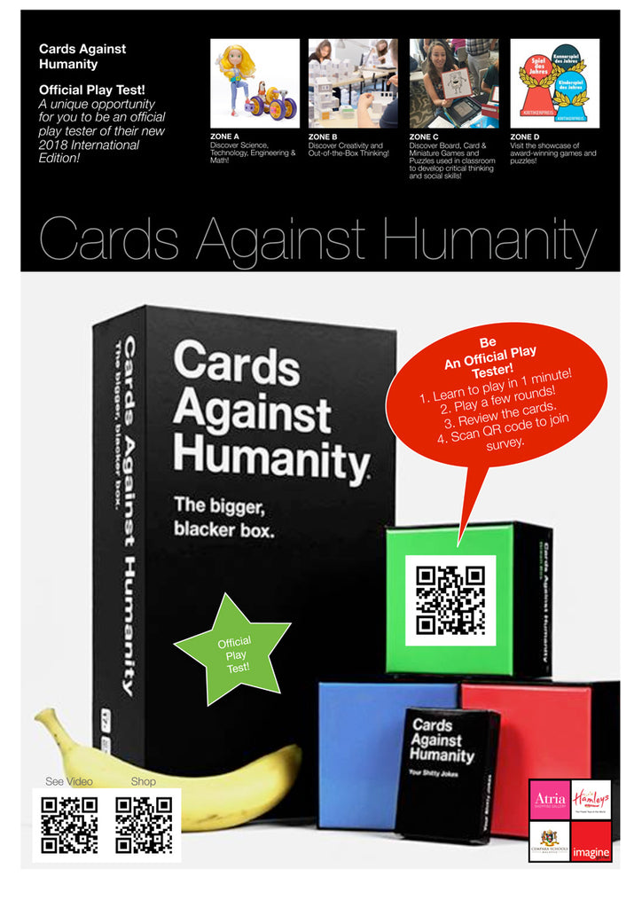 Be an Official Play Tester for the new Cards Against Humanity International Edition!
