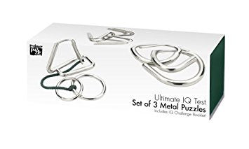 Ultimate IQ Set of 3 Metal Puzzles