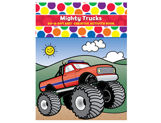 Mighty Trucks Coloring Book