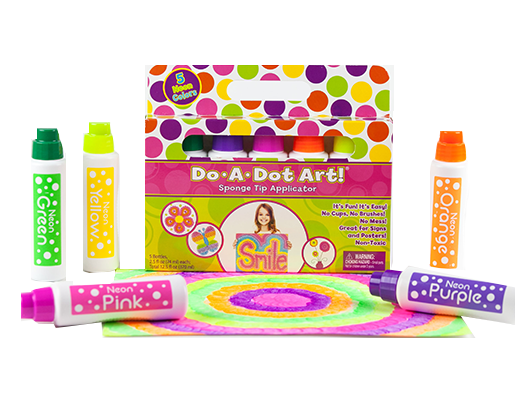 Do-A-Dot 5-Pack Fluorescent