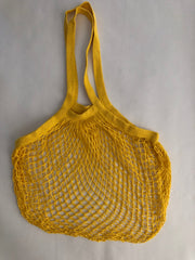 Reusable Cotton Bags - Yellow - Cotton String Bag - Long Handle