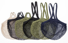 1 x short handle Oatmeal, Khaki Green & Black and 1 x long handle Black, Khaki Green & Blue