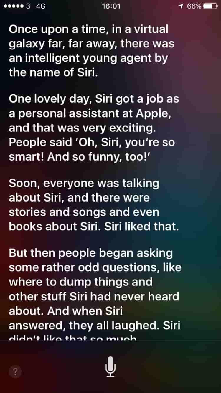 ask siri tell me a story