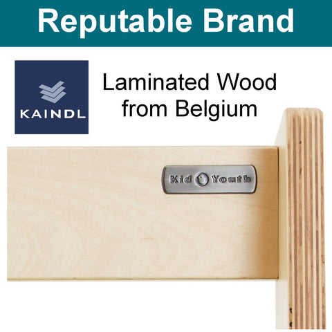 Laminated wood from Belgium