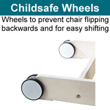 High Chair with Safety Wheels