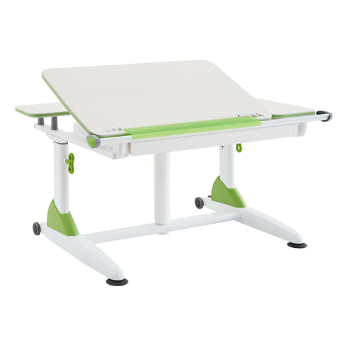Gas Lift Tiltable Desk with Green Trim