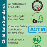 Laminated Wood and parts meeting European and USA Child Safe standards