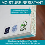 Board with Moisture resistant properties